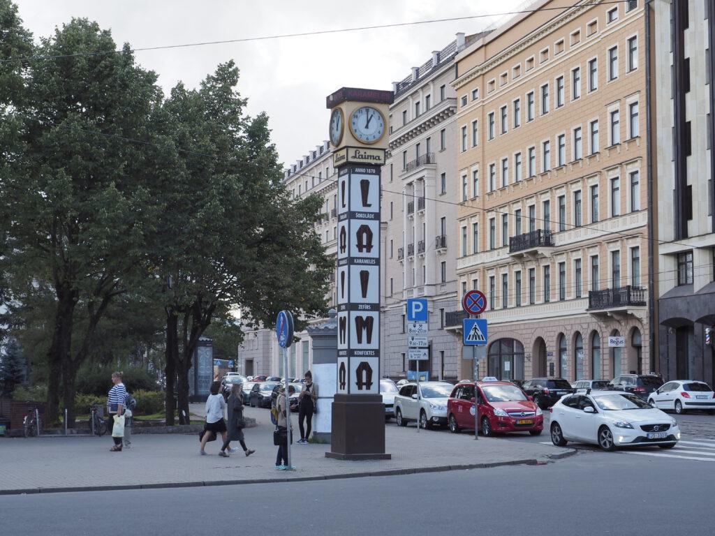 Laimas pulkstenis, Riga
