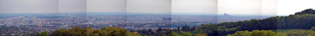 Panoramablick vom Cobenzl über Wien