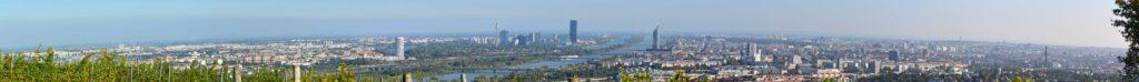 Panoramablick über Wien vom Eichelhofweg