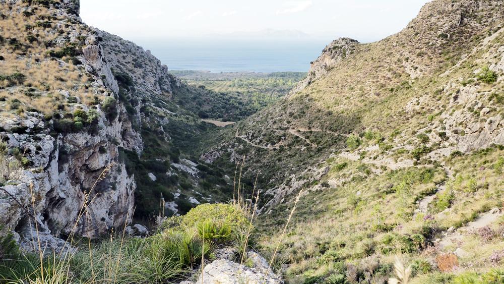 GR 222, Blick auf die Bucht von Alcúdia, Mallorca