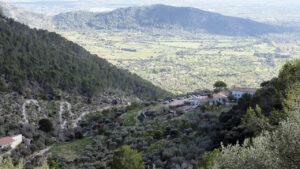 Blick auf Alaró vom Castell d'Alaró, Mallorca