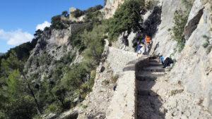 Klettern am Castell d'Alaró, Mallorca