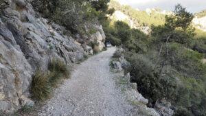 Zufahrt zum Castell d'Alaró, Mallorca