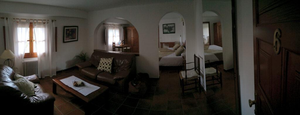 Wohnzimmer, Zimmer 6, Agroturismo Son Tomaset, Costitx, Mallorca