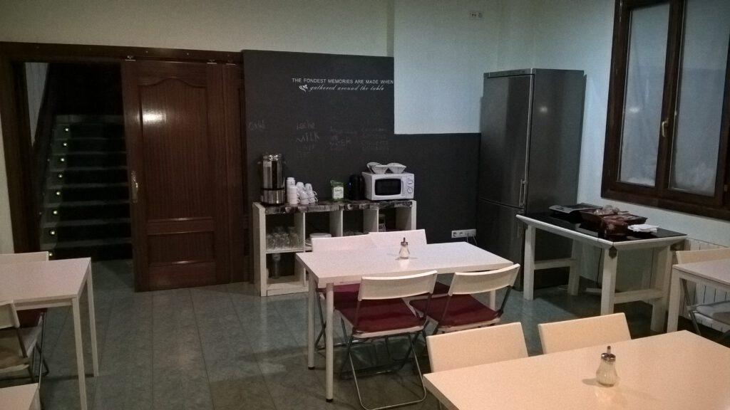 """Frühstücksraum, Pensión """"La Salve"""", Bilbao"""