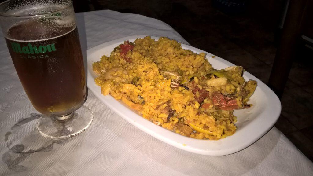 Paella, Hostal Cangas de Onis