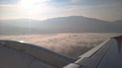 Das Umland von Vigo im Morgennebel