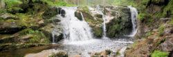 Titelbild Malý Labský, spodní vodopád / Unterer kleiner Elbfall für die Wanderroute Elbfall - Elbgrund - Spindlermühle (Riesengebirge, Tschechien)
