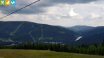 Ausblick vom Sessellift zum Medvědín über Spindlermühle (Riesengebirge, Tschechien)
