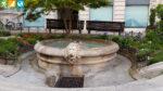 Brunnenanlage an der Piazza Francesco Crispi in Treviso (Venetien, Italien)