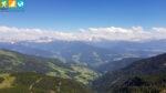 Panorama über die Dolomiten vom Latzfonser Kreuz (Sarntal, Südtirol, Italien)