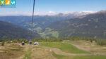 Blick aus der Gondelbahn auf den Pichlberg (Sarntal, Südtirol, Italien)