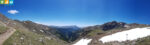 Panorama über den Wanderweg 7 zum Latzfonser Kreuz (Sarntal, Südtirol, Italien)
